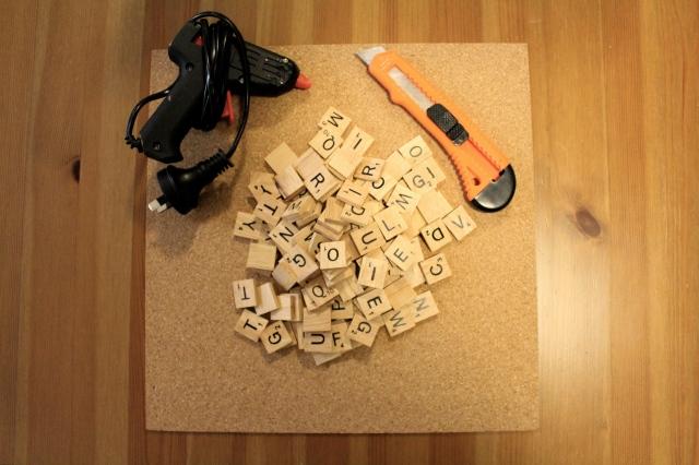 A DIY project - Scrabble Coasters