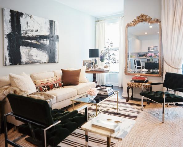 Gilt+Mirror+pair+vintage+black+chairs+balanced+8n714lavL4Ml