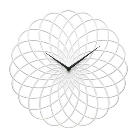 Lace-Clock-40cm-White