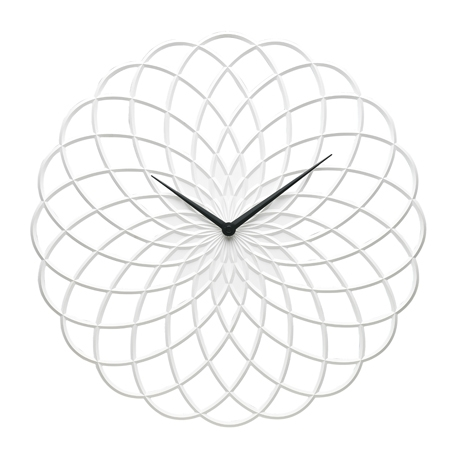 Lace-Clock-40cm-White