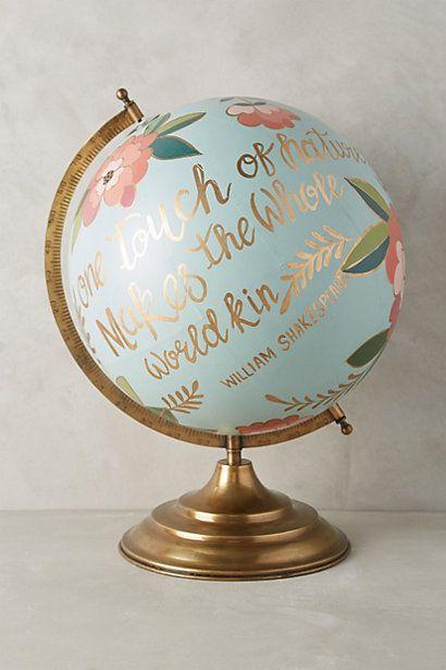 hand painted globe