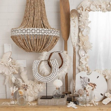 French Beaded Chandelier