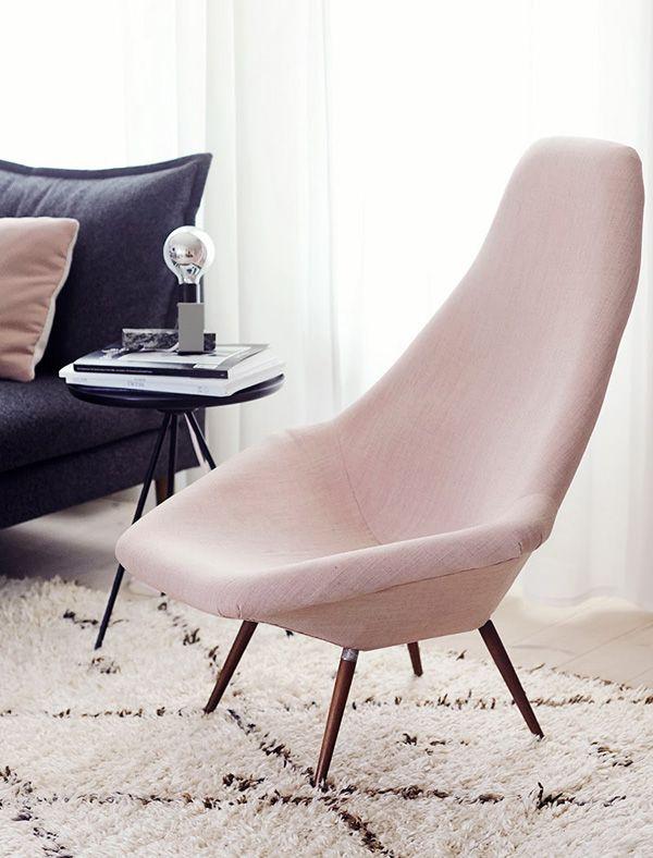 Blush Arm Chair