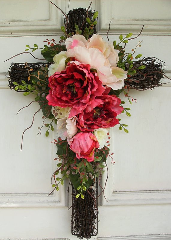 Floral Cross Wreath